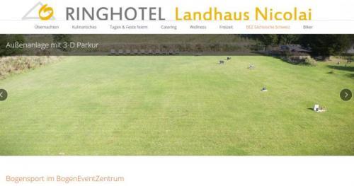 BEZ Bogensport-Event-Zentrum Landhaus Nicolai in der Sächsischen Schweiz
